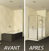 transformez votre baignoire en douche s curis e. Black Bedroom Furniture Sets. Home Design Ideas