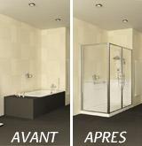 Transformez votre baignoire en douche s curis e - Comment transformer une baignoire en douche ...